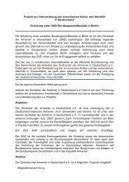 Projekt zur Unterstützung der armenischen Kultur und Identität in ...