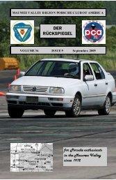 Volume 36 Issue 9, September 2009 - Maumee Valley - Porsche ...