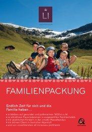 Familienpackung - Liechtenstein Tourismus