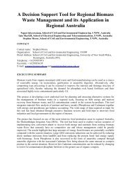 A Decision Support Tool for Regional Biomass Waste Management ...