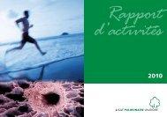 Rapport d'activités 2010 - Ligue pulmonaire