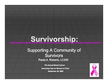 S i hi S i hi Survivorship: