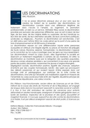 les discriminations - Magazine de la communication de crise et ...