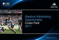 Stadium Advertising Opportunities Croke Park 2011