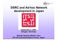 DSRC and Ad-hoc Network development in Japan