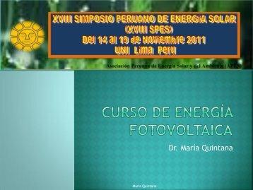 Curso_SPES - Asociación Peruana de Energía Solar y del Ambiente