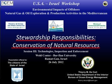 Stewardship Responsibilities Conservation of Natural Resources