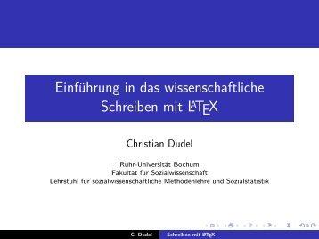 Einführung in das wissenschaftliche Schreiben mit LaTeX - Ruhr ...