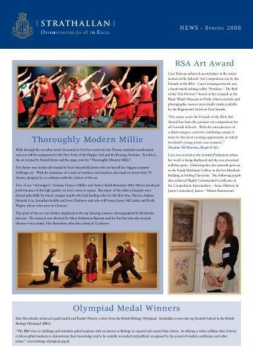 Thoroughly Modern Millie RSA Art Award Olympiad Medal Winners