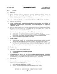 SECTION 13900 – FIRE SPRINKLER SYSTEM Page 1 of 7