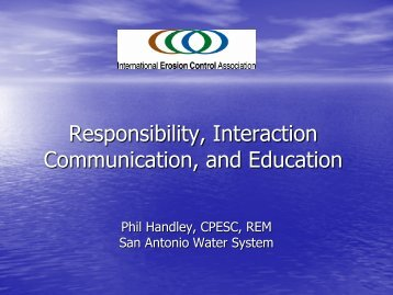 Responsibility, Interaction Communication, and Education