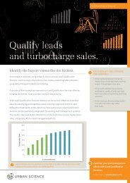Qualify leads and turbocharge sales. - Urban Science