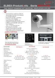 ELBEX-Produktinfo Serie EXT-P100 - ELBEX (Deutschland) GmbH