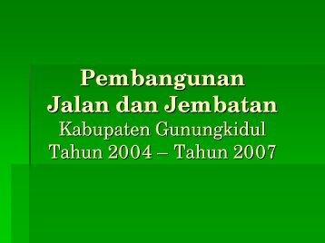Pembangunan Jalan dan Jembatan di Kabupaten Gunungkidul