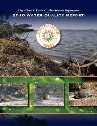 2010 Water Quality Report | Utility Systems - City of Port St. Lucie