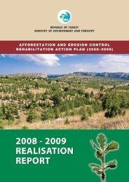 afforestation and erosion control rehabilitation action plan (2008 ...