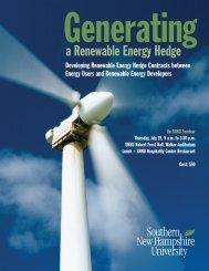 Generating a Renewable Energy Hedge - Wind Powering America