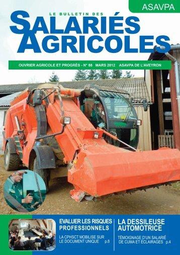 Le bulletin des salariés agricoles de l'Aveyron mars 2012