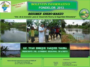 bolentin informativo fondelor 2013 - Gobierno Regional de Loreto