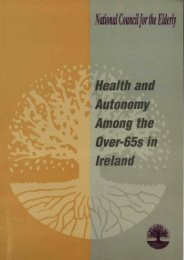 Health and Autonomy Among the Over-65s in Ireland - National ...