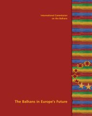 The Balkans in Europe's Future