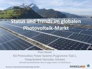 Status und Trends im globalen Photovoltaik-Markt Pius
