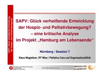 Vortrag Klaus Wegleitner - End-Of-Life-Care
