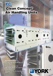 Air Volume Range YCC all metal Air handling Unit 0.8 to 56m3/s ...