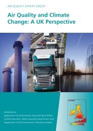 Air Quality and Climate Change: A UK Perspective - UK-Air - Defra