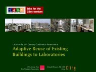 Adaptive Reuse of Existing Buildings to Laboratories