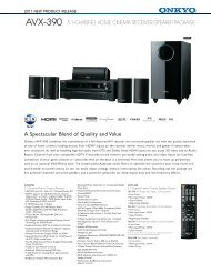 avx-390 5.1-channel home cinema receiver/speaker package - Onkyo