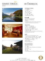 Fact Sheet Grand Tirolia Golf & Ski Resort Kitzbühel