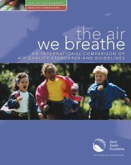 An International Comparison of Air Quality Standards and Guidelines