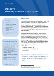 Beneficiary Assessment Summary Note - Oxford Policy Management
