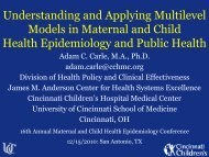 Understanding and Applying Multilevel Models in Maternal and ...