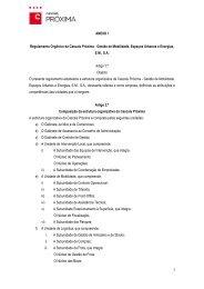 Regulamento Orgânica | Anexo I - Câmara Municipal de Cascais