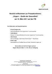 Ungarn-Pressedienst Health- & Wellness