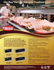 Hatco Glo-Ray® Narrow Halogen Foodwarmers are great for use in ...