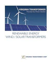 RENEWABlE ENERGY WIND / SOlAR TRANSFORMERS - Virginia ...