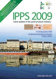 Latest updates in the panel products industry - BioComposites ...