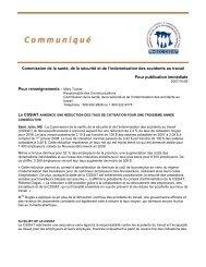 Commission de la santé, de la sécurité et de l'indemnisation des ...