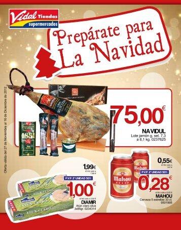 1,00€ 0,28€ - Vidal Tiendas Supermercados