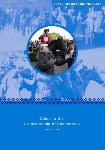 Guide To The Co-ownership Of Racehorses - British Horseracing ...