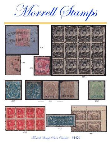 Morrell Stamps Sales Circular #1420