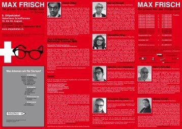 MAX FRISCH MAX FRISCH - SHpektakel
