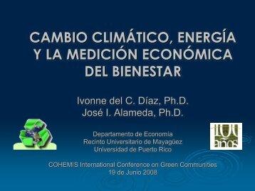 cambio climático, energía y la medición económica del bienestar