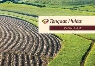 International Investor Roadshow Presentation ... - Tongaat Hulett