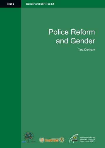 Police Reform and Gender (Tool 2) - DCAF