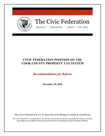 Cook County Property Tax Position - The Civic Federation