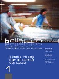COPERTINA Bollettino OMCeO_1_2010 - Ordine Provinciale di ...